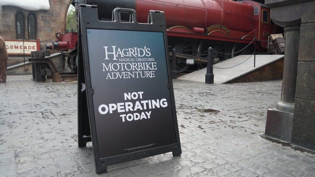 Hagrid's Motorbike Adventure Closed