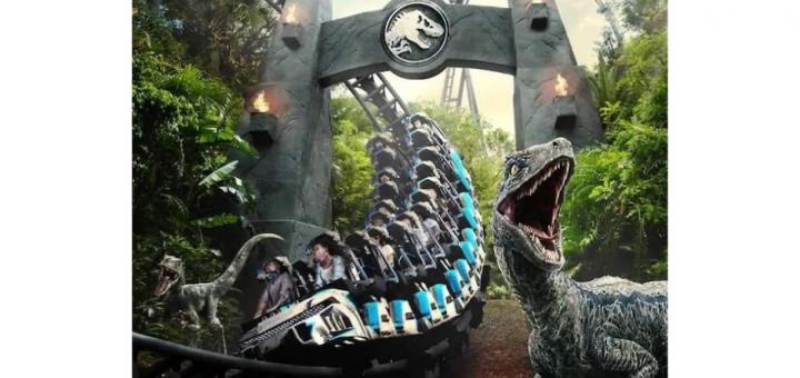 Jurassic World Velocicoaster Concept Artwork