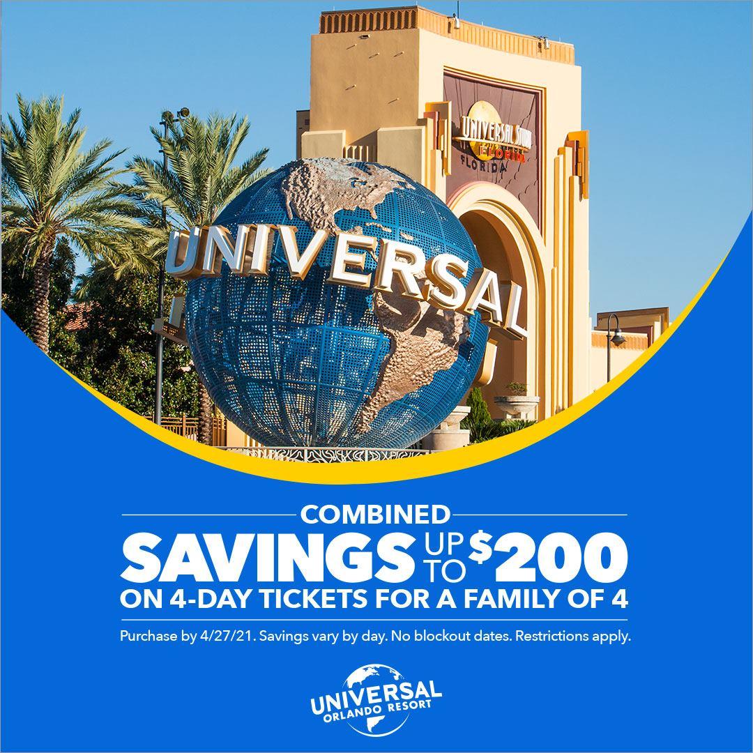 Universal Orlando 2021 Offers